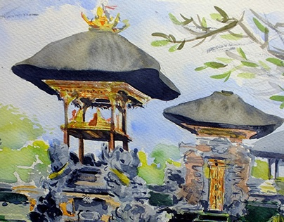 Traditional Indonesian Temple /Bali