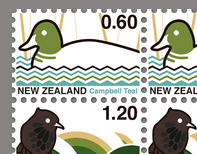 Native bird stamps
