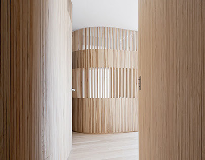 Flat N°4 |  Wood battens & curves