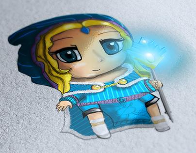 Crystal Maiden Dota2 Hero Illustration