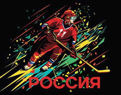 """""""Россия. Спорт"""". Серия принтов"""
