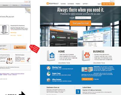 KeepVault.com Redesign