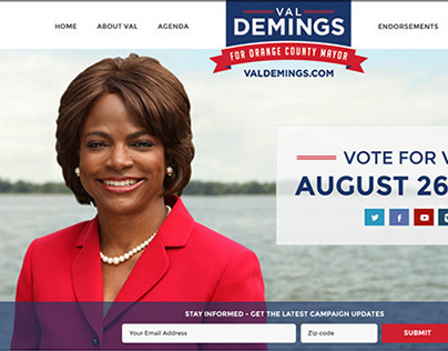 Website for Val Demings for Mayor