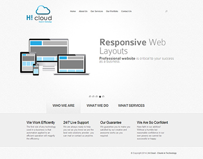 Hi Cloud - Chunk in technology new website launched