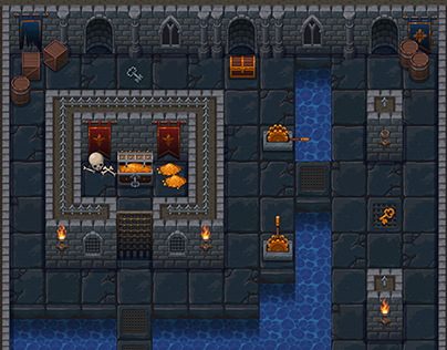 Top Down Roguelike Dungeon Tileset On Behance