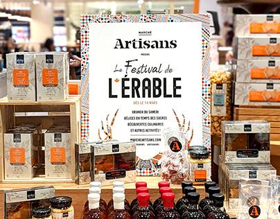 Le festival de l'érable au Marché Artisans