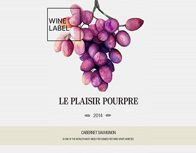 LE PLAISIR POURPRE - Wine Label
