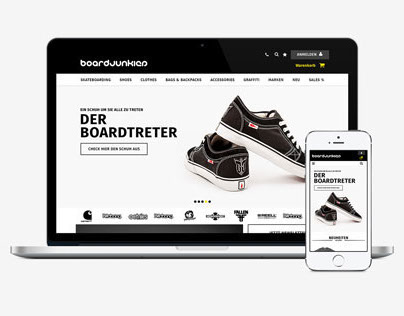 BOARDJUNKIES – Web Design