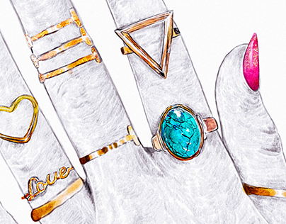 Beauty and Jewellery Illustrations