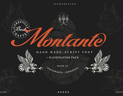 Montante script classic. (Free Font)