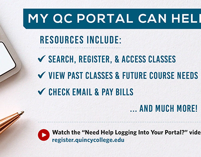 Quincy College Portal Email Header