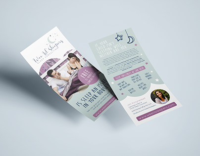 Flyer design for a sleep consulting company