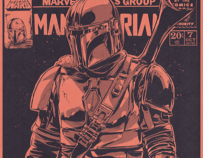 The Mandalorian A2 Archival Comic Print