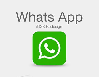 WhatsApp iOS8 Redesign Concept