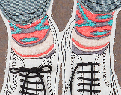 Embroidered Illustration - Brogues