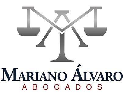Logotipo y papeleria para Mariano Álvaro Abogados.