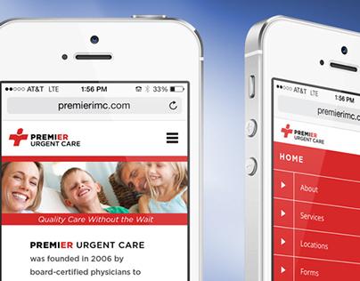 Logo & Website Redesign for Premier Urgent Care
