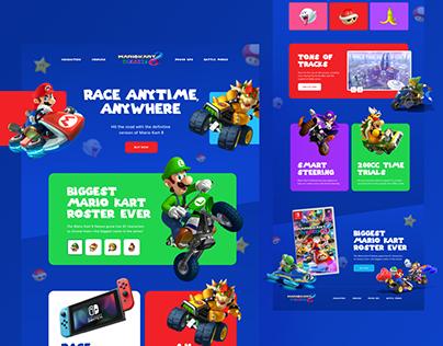 Nintendo Mario Kart Website Redesign