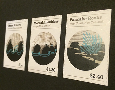 NZ Rock Formations Stamps