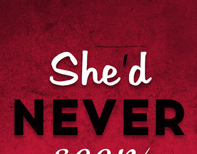 Typography Poster - She'd Never Seen The Beast Before