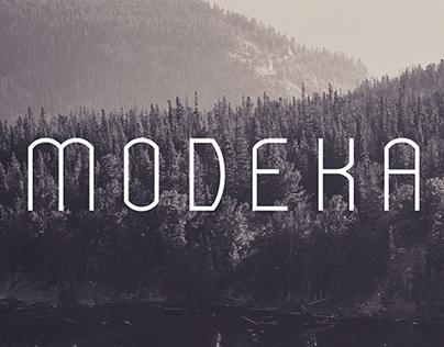 MODEKA - Free Font