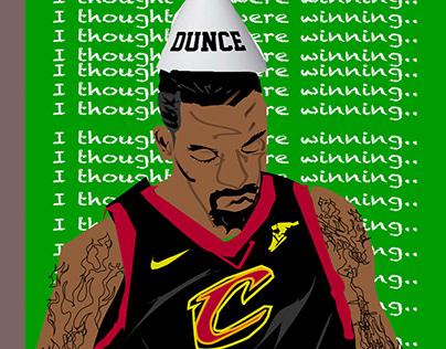 JR SMITH dunce