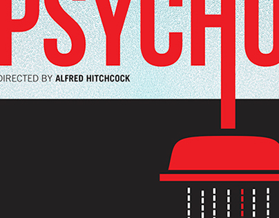 Alfred Hitchcock Psycho Poster