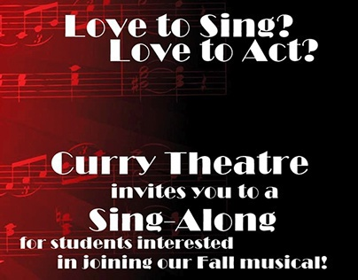 Poster for Fall Musical at Curry College