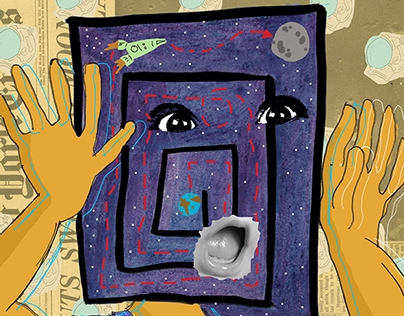 Moonlanding / Illustration 2014. Personal project.