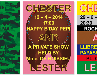 Chester and Lester posters