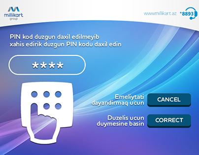 Milli Kart ATM UI