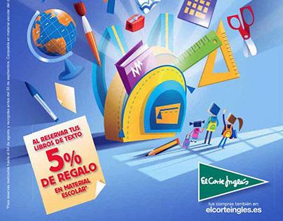 Ilustraciones campaña 'Vuelta al Cole', El Corte Inglés