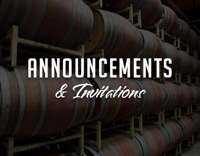 Announcements & Invitations
