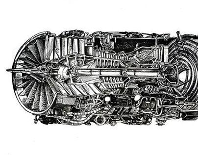 F100 Plane Engine