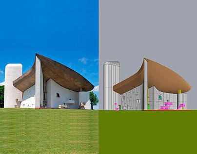 Le Corbusier's Ronchamp chapel | 3D Model with Rhino
