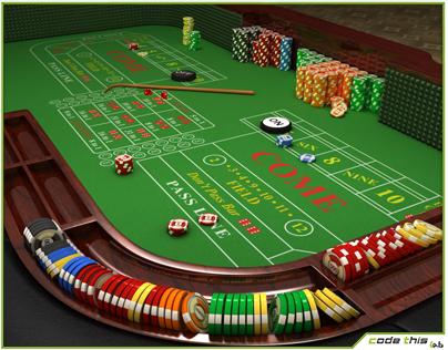 Casino Table - Craps Table CG