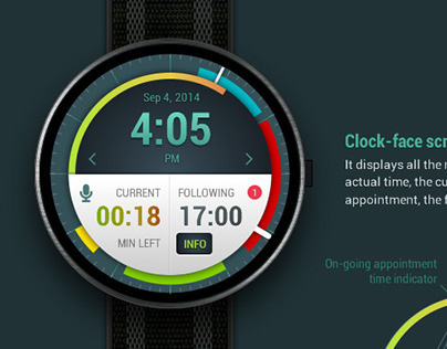 Android wear - Appointment app concept