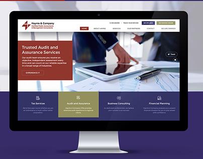 Haynie & Company - Website UX/UI Design