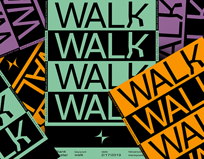 WALK - Blankposter