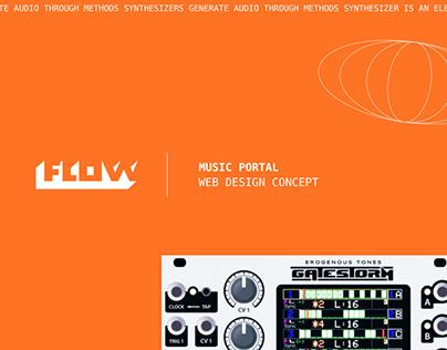 Music portal - web design concept