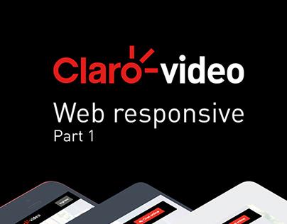 Claro video - Web Responsive - Part 1