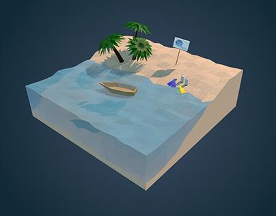 Low Poly Beach