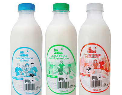 Milk labels design