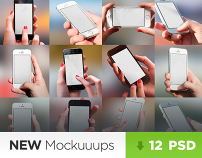 12 Adjustable Mockuuups with iPhone 5s