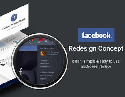 Facebook Redesign Concept (just 4 fun)