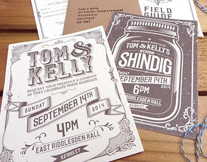 Tom & Kelly Wedding Invites