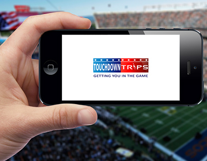 International NFL Football Travel Company Logo Design