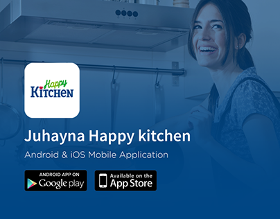 Juhayna Happy Kitchen Food Recipes App UI /UX