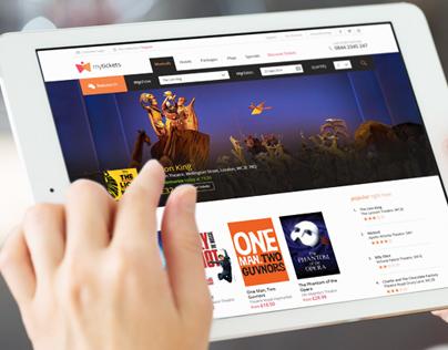 MyTickets - Website UI & Branding