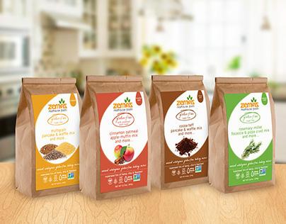 Zemas Baking Mix Packaging & Apparel Design